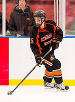 Cam works on practicing for the Kimball Union Academy's (KUA) hockey team